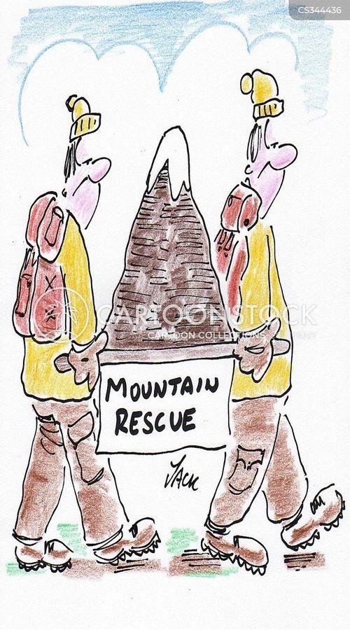 mountain rescues cartoon