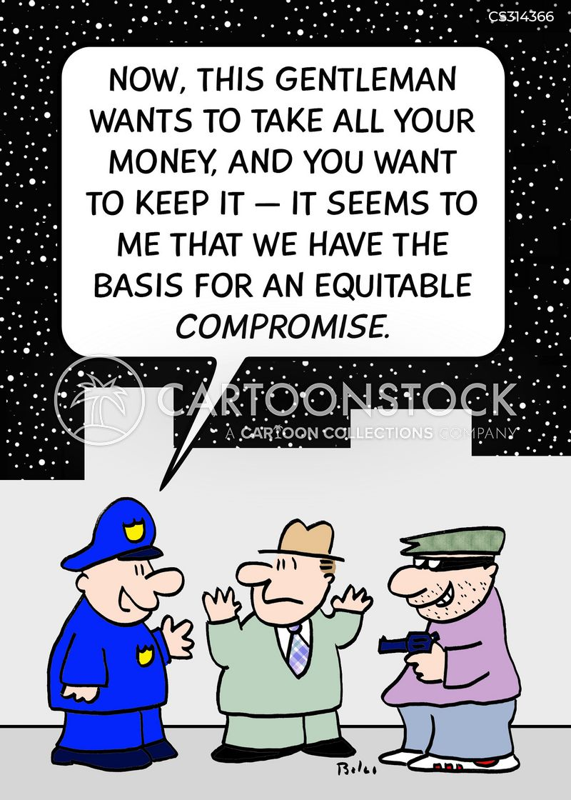 equitable compromise cartoon