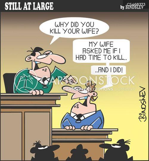 murder cases cartoon