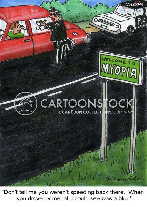 nearsighted cartoon