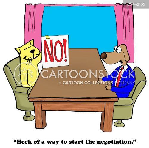 negotiating table cartoon