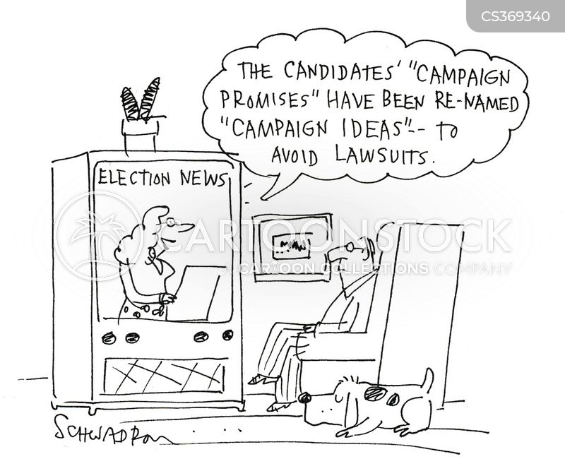 election news cartoon