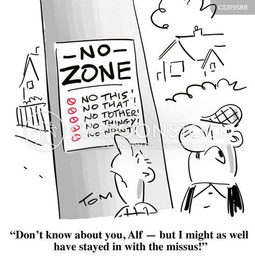 no zones cartoon