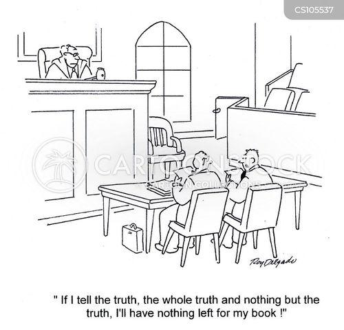 tell the truth cartoon