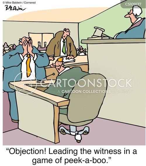 leading the witness cartoon