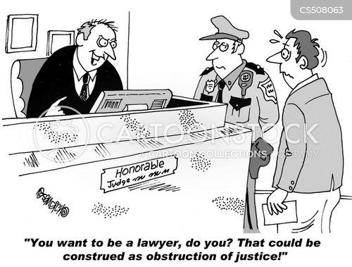 obstruction of justice cartoon