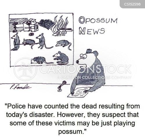playing possum cartoon