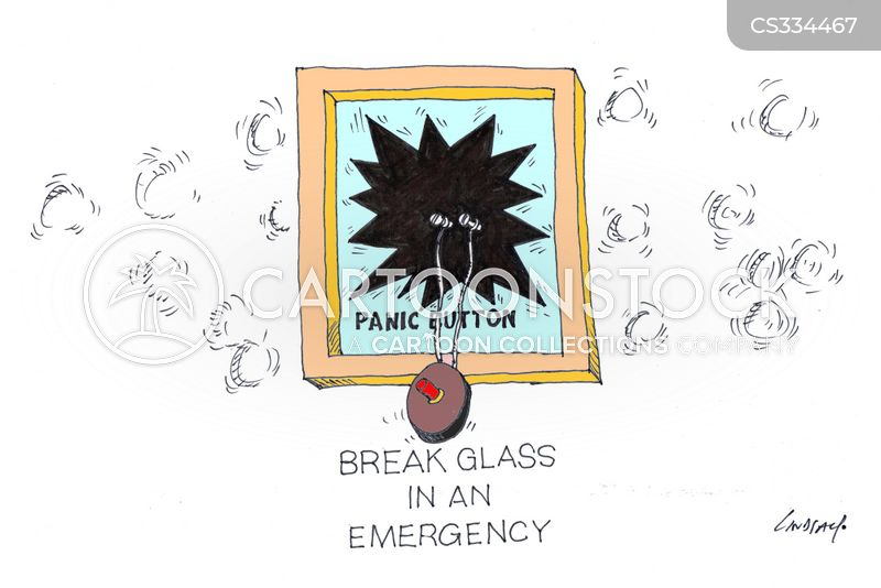 breaking glass cartoon