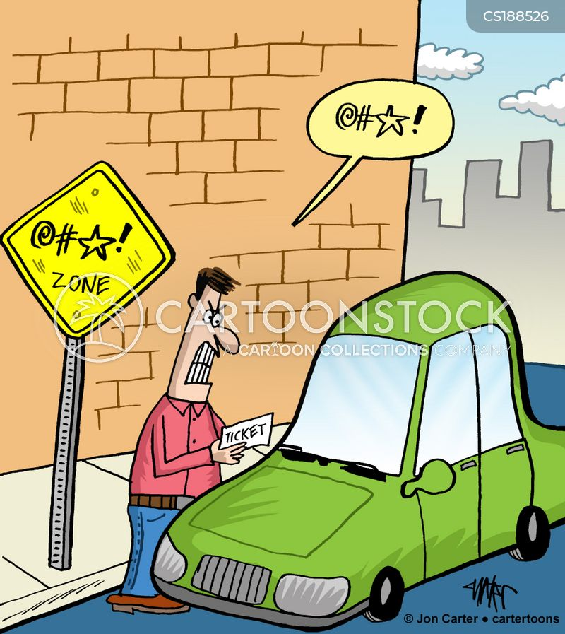 parking tickets cartoon