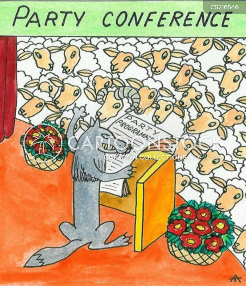 party conferences cartoon