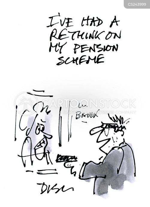 pension scheme cartoon