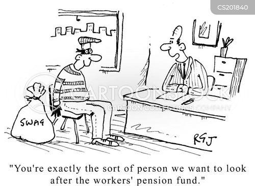 workers pension cartoon