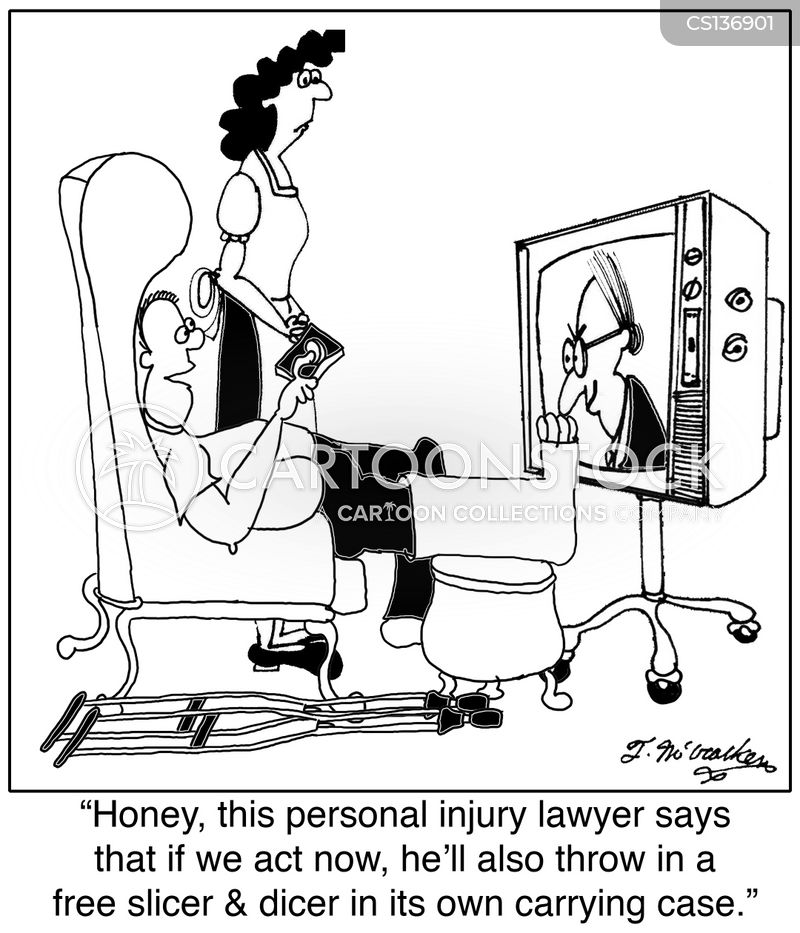personal injury lawyer cartoon