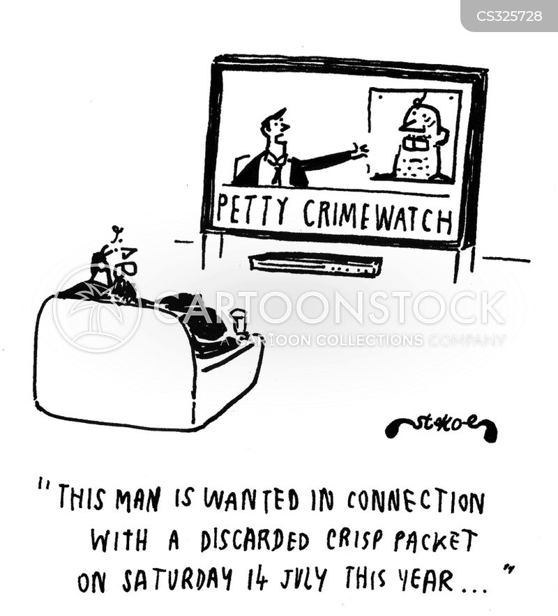 petty crimes cartoon