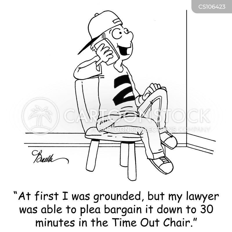 plea bargains cartoon