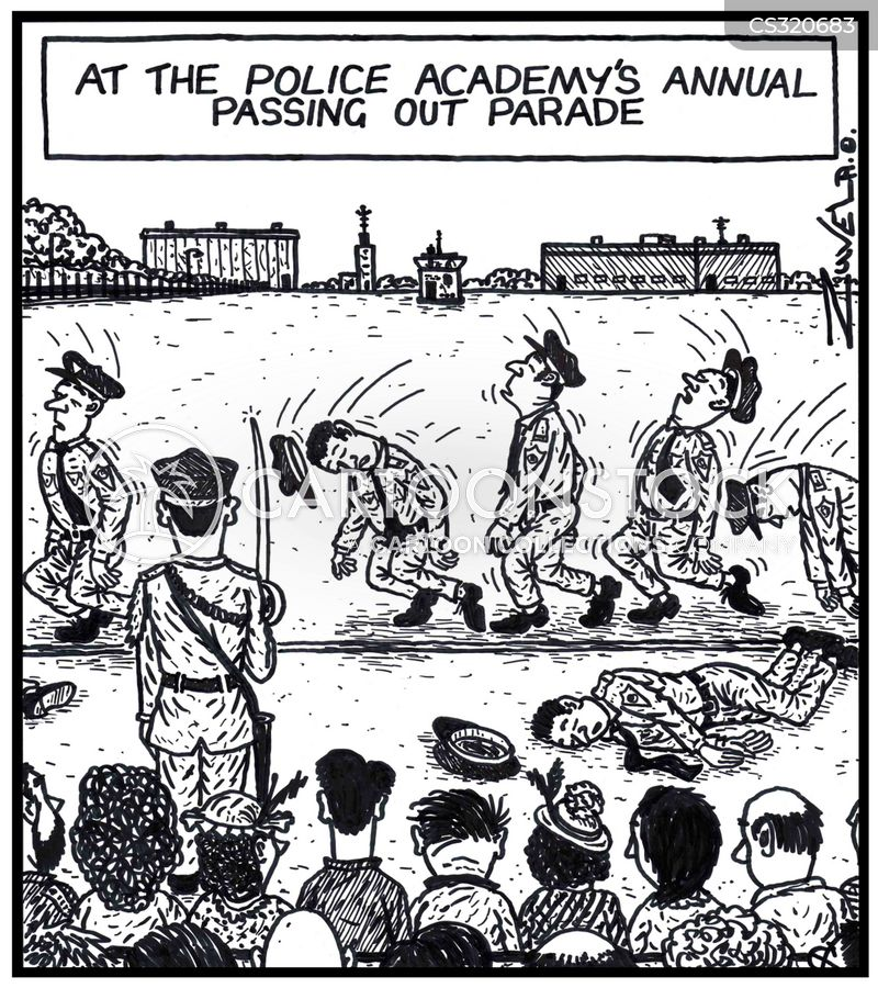 Police Academy Cartoons and Comics - funny pictures from CartoonStock