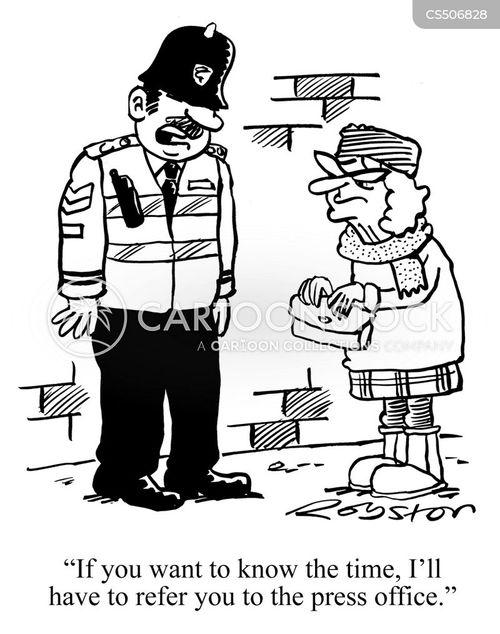 press officer cartoon