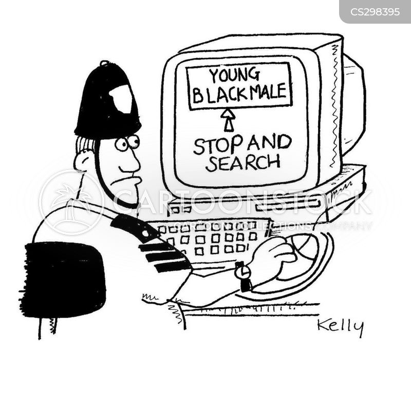 stop and search cartoon