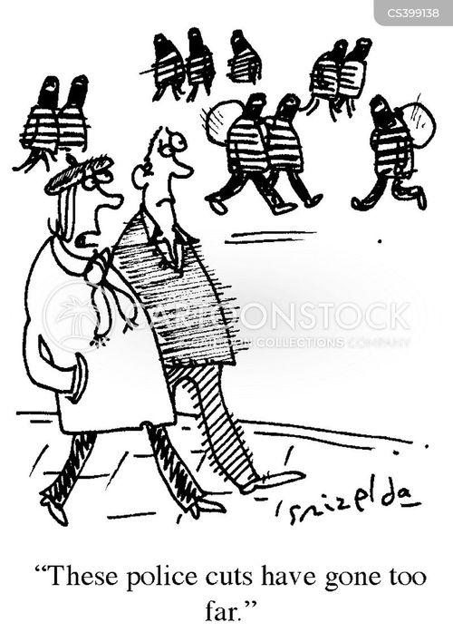 policing budgets cartoon