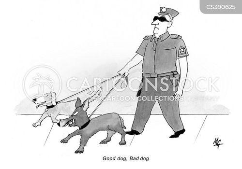 canine unit cartoon