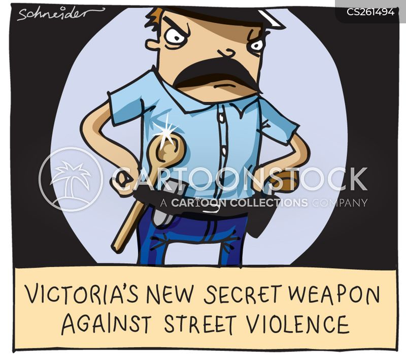 street violence cartoon