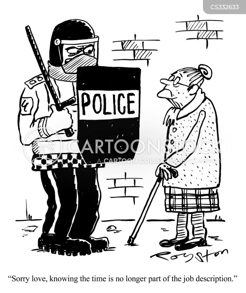 riot cop cartoon