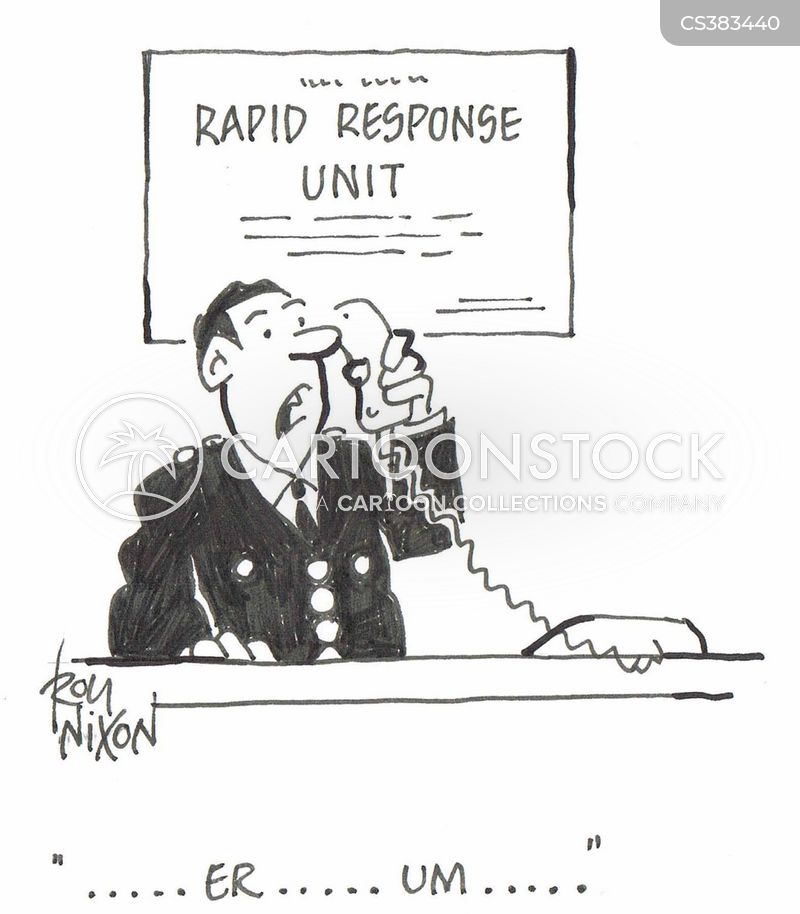 Cartoon Emergency Response Rapid Response Cartoon 3 of 5