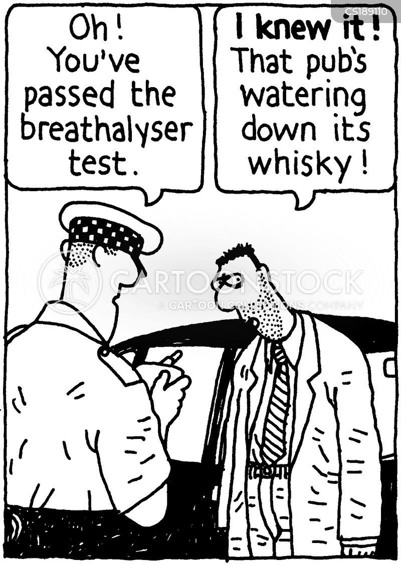 drunk driving cartoon