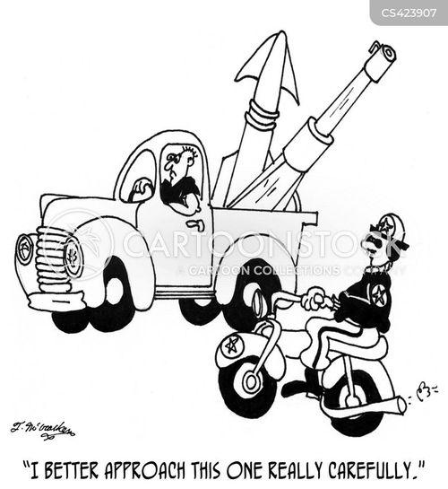 highway patrolmen cartoon