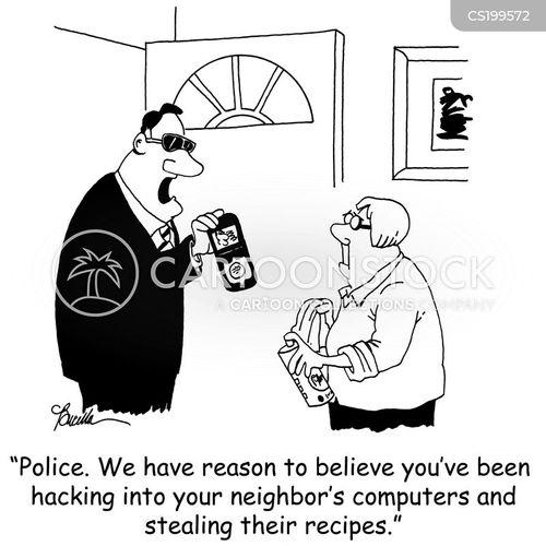 computer hacking cartoon