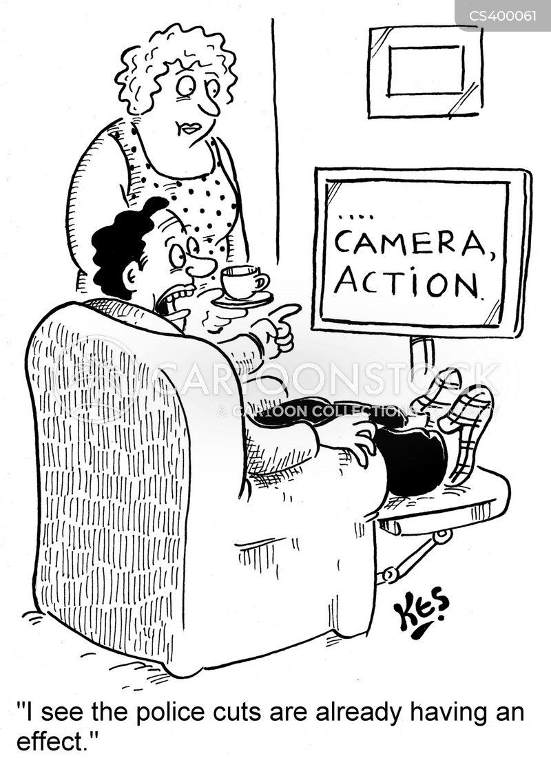 police cut cartoon