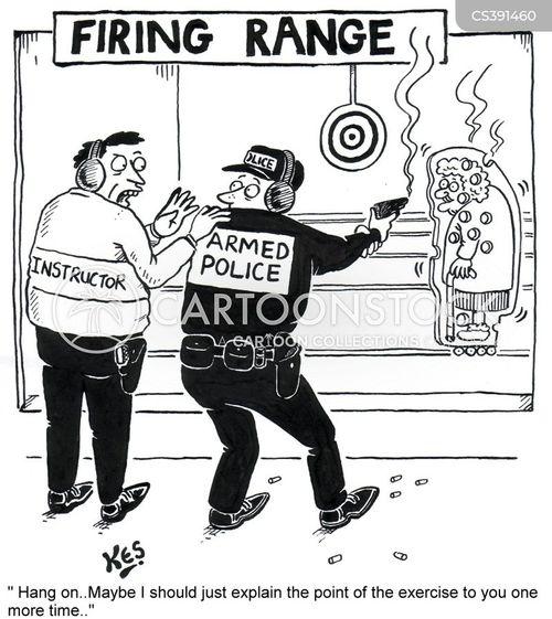 armed response cartoon