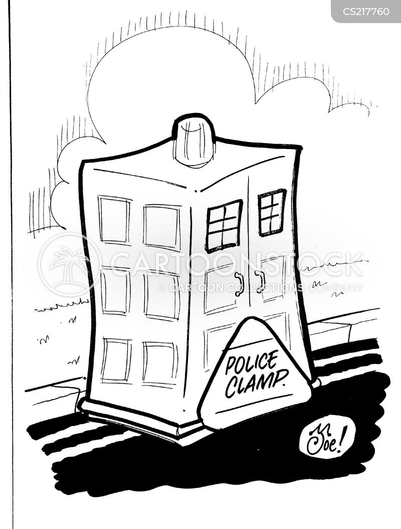 clamping cartoon