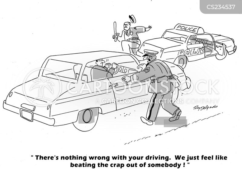 excessive force cartoon