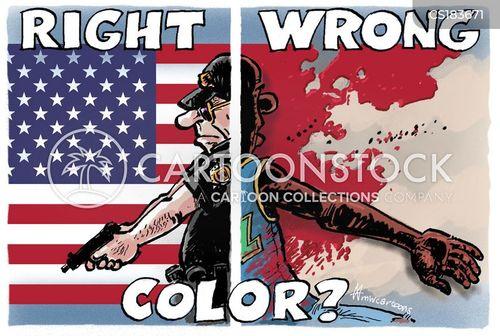 racial profile cartoon