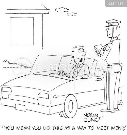 policewomen cartoon