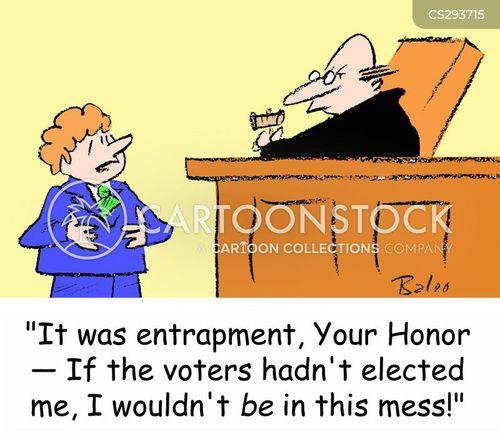 entrapment cartoon