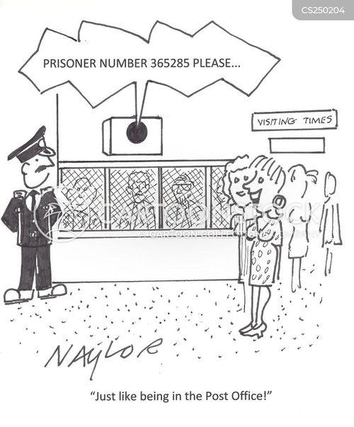 visiting times cartoon