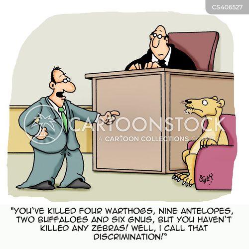 courtroom drama cartoon