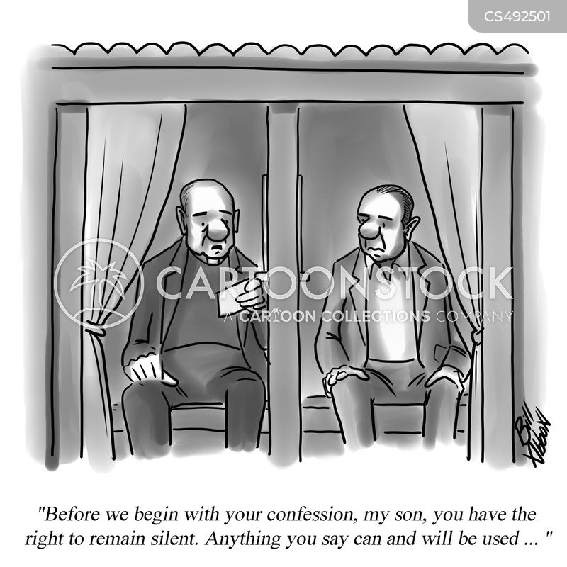 confessional booths cartoon
