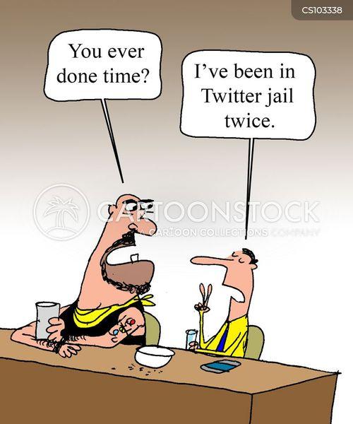 social media use cartoon