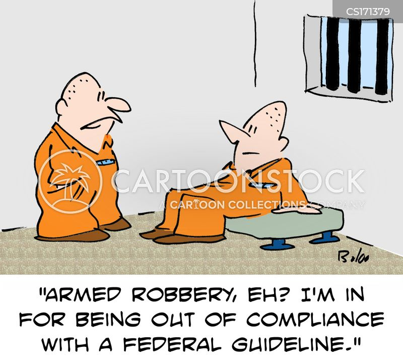armed robbery cartoon