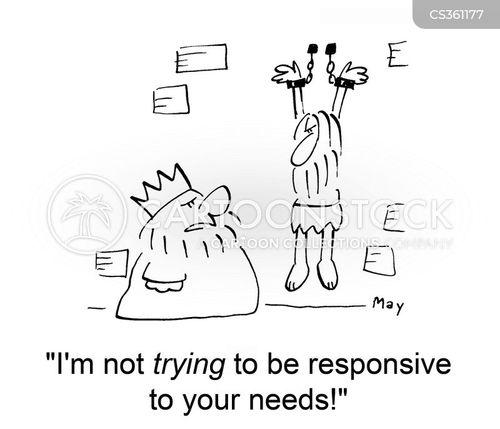 responsive cartoon