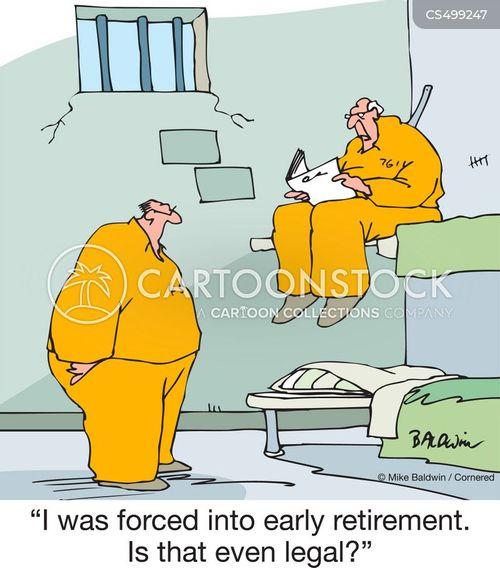forced retirements cartoon