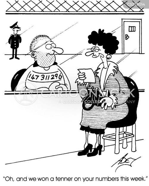 lucky number cartoon