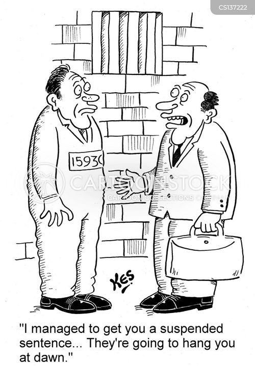 suspended sentences cartoon