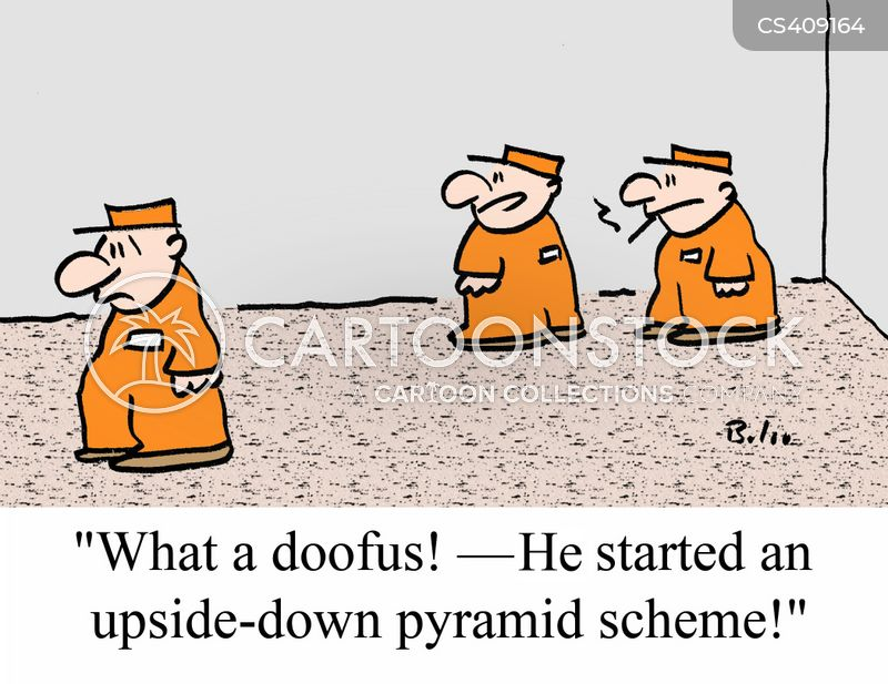 pyramid schemes cartoon