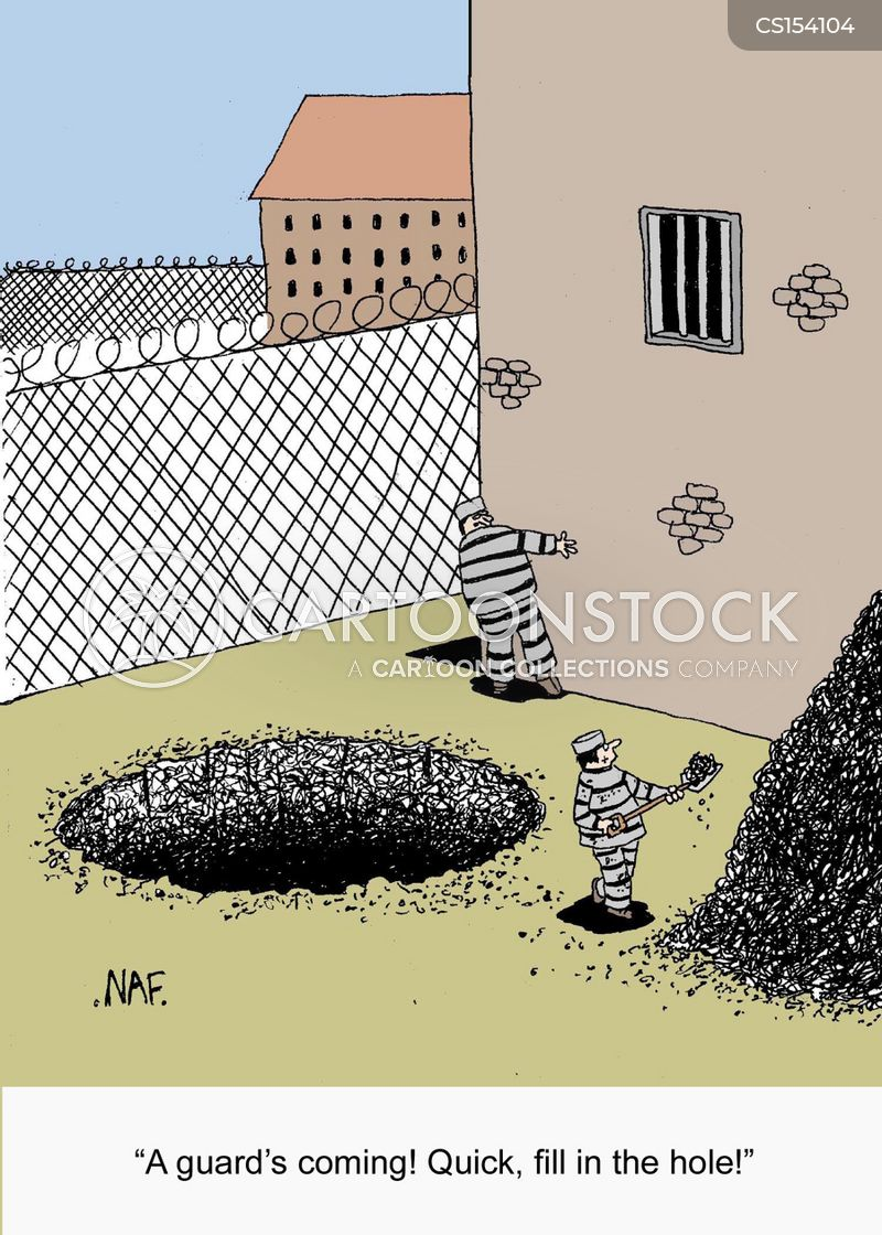 escaping from prison cartoon