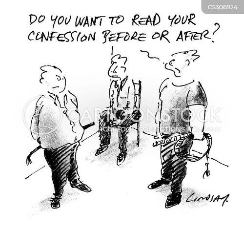 false confessions cartoon