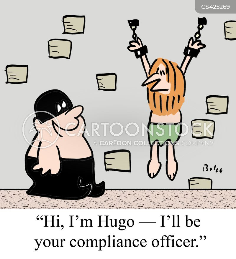 Compliance officer cartoons and comics funny pictures - Qualifications for compliance officer ...
